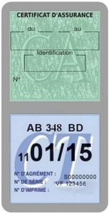 Porte étui Double Vignette Assurance Voiture Neutre sans marquage Stickers Auto rétro